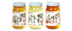 花田養蜂園の純粋蜂蜜マロニエ・アカシア・りんご300g×各1本