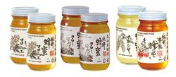 花田養蜂園の純粋蜂蜜マロニエ・クローバー300g×各2本,カシア・りんご300g×各1本
